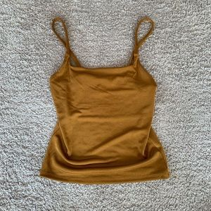 NWOT Forever 21 Gold Metallic Cami Top S